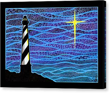 O Holy Night Hatteras Canvas Print by Jim Harris