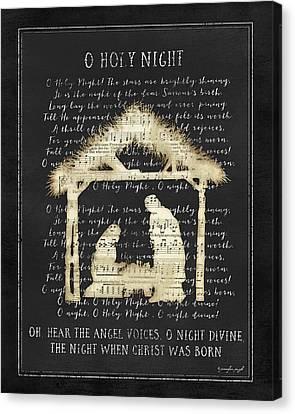 Nativity Canvas Print - O Holy Night I by Jennifer Pugh