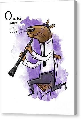 O Is For Otter Canvas Print by Sean Hagan