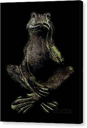 Jean_okeeffe Canvas Print - O M F Oh My Frog by Jean OKeeffe Macro Abundance Art