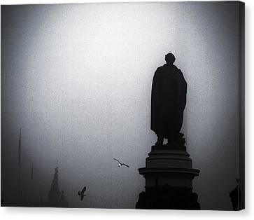O O'connell Street Under Fog Canvas Print by Patrick Horgan