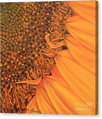 O Sunflower Canvas Print by Jeanette French
