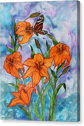 O Tiger Lily Canvas Print by Janet Immordino