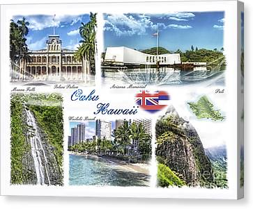 Oahu Postcard 2 Canvas Print by Mo T