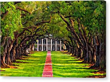 Oak Alley Paint Version Canvas Print by Steve Harrington