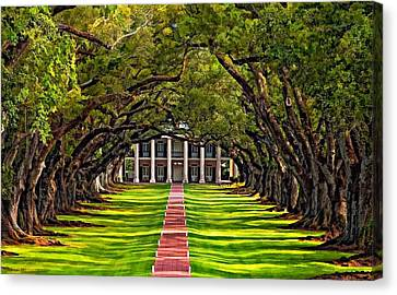 Oak Alley Canvas Print