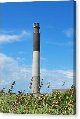 Oak Island Lighthouse Canvas Print by Bob Sample