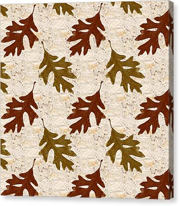 Foliage Canvas Print - Oak Leaf Pattern by Christina Rollo