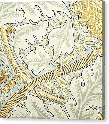 Oak Leaves Canvas Print by William Morris