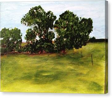 Oak Trees Canvas Print by Andrea Friedell