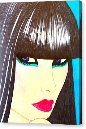Blue Eyes Canvas Print by Alesya Cabral