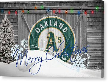 Oakland Athletics Canvas Print by Joe Hamilton