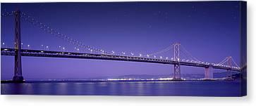 Oakland Bay Bridge Canvas Print by Aged Pixel
