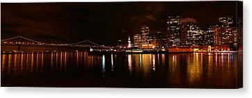 Oakland Bay Bridge At Night Canvas Print