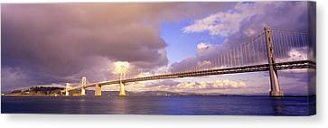 Oakland Bay Bridge San Francisco Canvas Print by Panoramic Images