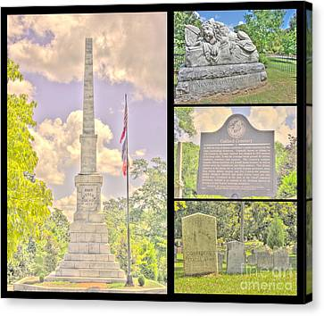 Oakland Cemetery Collage Canvas Print