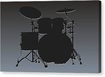 Oakland Raiders Drum Set Canvas Print by Joe Hamilton