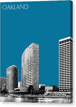 Oakland Skyline 2 - Steel Canvas Print by DB Artist