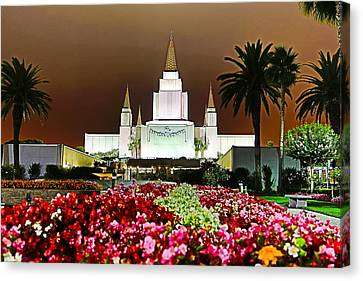 St. George Temple Canvas Print - Oakland Temple 1 by Alan Nix