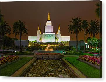St. George Temple Canvas Print - Oakland Temple 2 by Alan Nix