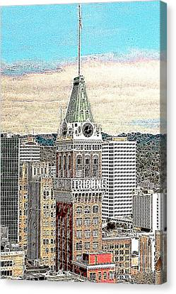 Oakland Tribune Building Oakland California 20130426 Canvas Print by Wingsdomain Art and Photography