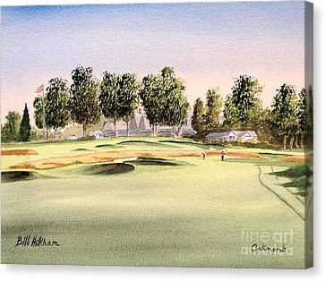 Canvas Print featuring the painting Oakmont Golf Course 14th by Bill Holkham