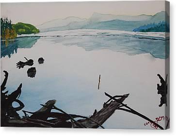 Oakridge Reservoir #1 Canvas Print by Dawna Morton