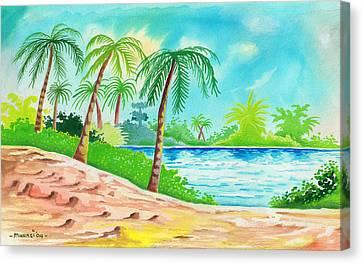 Oasis Canvas Print by Anthony Mwangi