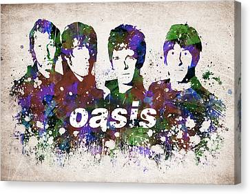Morning Glories Canvas Print - Oasis Portrait by Aged Pixel
