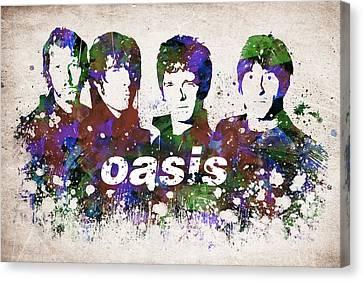 Alternative Music Canvas Print - Oasis Portrait by Aged Pixel