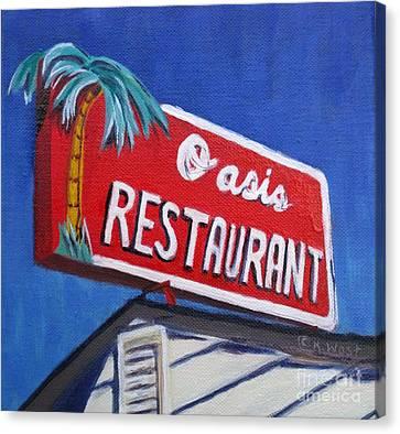 Oasis Restaurant Canvas Print