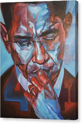 Obama 44 Canvas Print by Steve Hunter