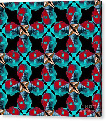 Obama Abstract 20130202m180 Canvas Print by Wingsdomain Art and Photography