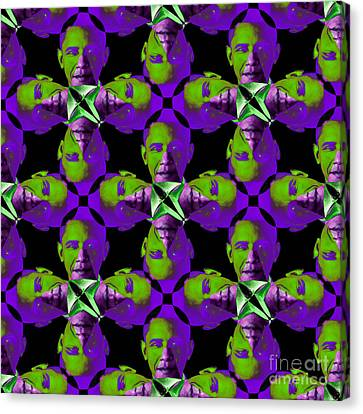 Obama Abstract 20130202m88 Canvas Print by Wingsdomain Art and Photography