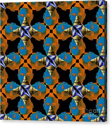Obama Abstract 20130202p28 Canvas Print by Wingsdomain Art and Photography