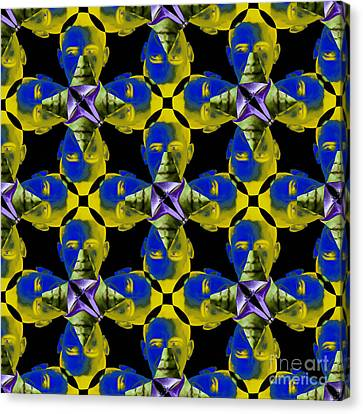 Obama Abstract 20130202p55 Canvas Print by Wingsdomain Art and Photography