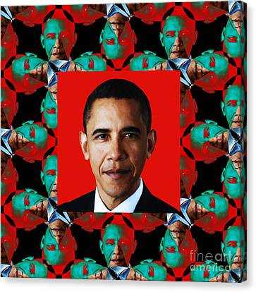 Obama Abstract Window 20130202p0 Canvas Print by Wingsdomain Art and Photography