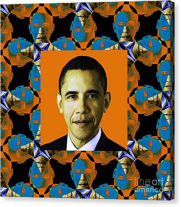 Obama Abstract Window 20130202p28 Canvas Print by Wingsdomain Art and Photography