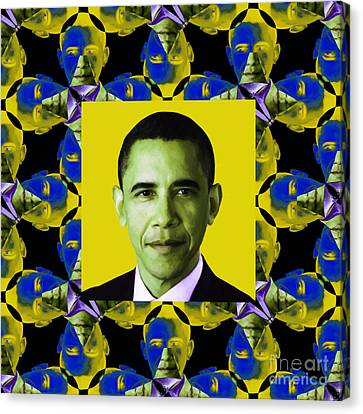 Obama Abstract Window 20130202p55 Canvas Print by Wingsdomain Art and Photography