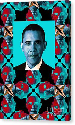 Obama Abstract Window 20130202verticalm180 Canvas Print by Wingsdomain Art and Photography