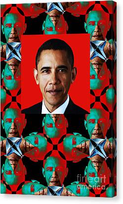 Obama Abstract Window 20130202verticalp0 Canvas Print by Wingsdomain Art and Photography