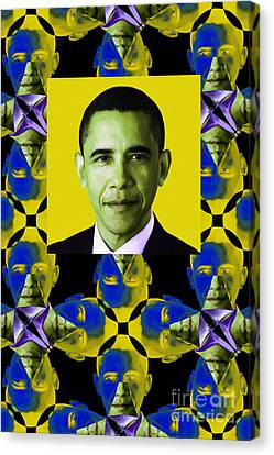 Obama Abstract Window 20130202verticalp55 Canvas Print by Wingsdomain Art and Photography