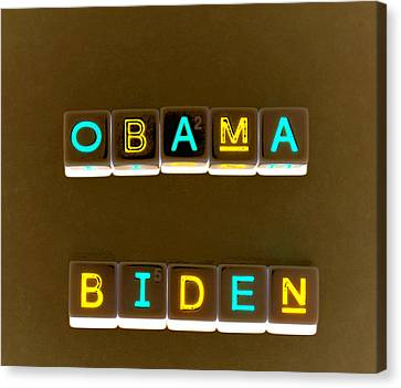 Obama Biden Words. Canvas Print by Oscar Williams