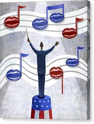 Senate Canvas Print - Obama Conductor by Steve Dininno