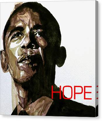 Barack Obama Canvas Print - Obama Hope by Paul Lovering