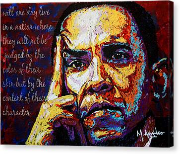 Obama Canvas Print by Maria Arango