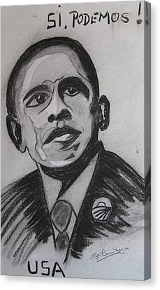 Obama Canvas Print by Roger Cummiskey