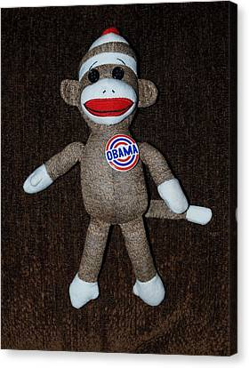 Obama Sock Monkey Canvas Print by Rob Hans