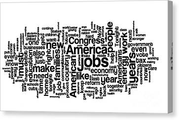Obama State Of The Union Address - 2013 Canvas Print