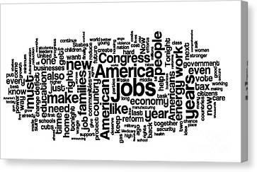 Obama State Of The Union Address - 2013 Canvas Print by David Bearden